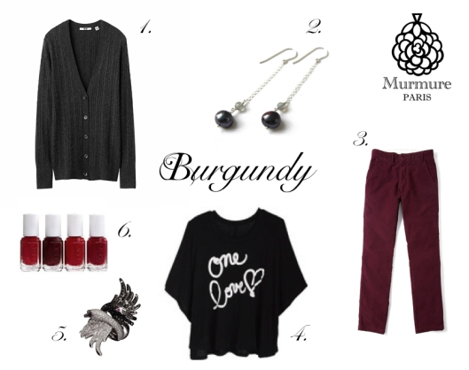 Look book Burgundy Murmure Paris